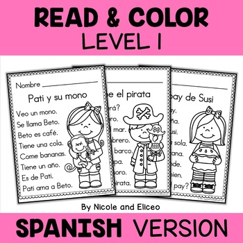 Spanish Reading Passages - Read and Color