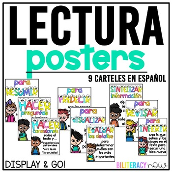 Spanish Reading Posters - 9 carteles de lectura