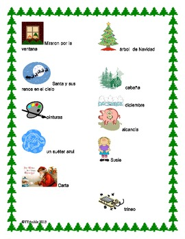 Spanish Reading Christmas Rebus Story