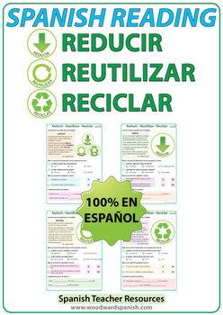 Spanish Reading - Reducir, Reutilizar, Reciclar