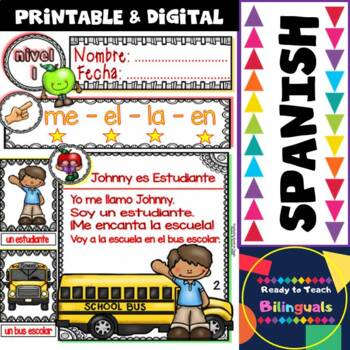 Spanish Reading - Regreso a Clases (BTS)  - Guided  Reading Passages - Level 1