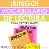Spanish Reading Test Prep Vocabulary BINGO for Third Grade