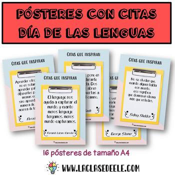 16 Pósteres con citas inspiradoras para el Día Mundial de las Lenguas