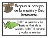 Spanish Reading Strategies Cards (No Headings)