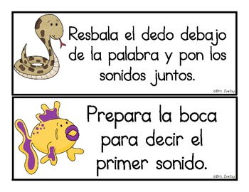 Spanish Reading Strategies Cards (No Headings)