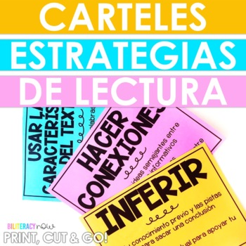 "Spanish Reading Strategies POSTERS! 8.5 x 11""! 8 Strategies!"