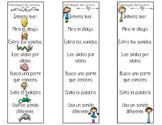 Spanish Reading Strategy Bookmarks