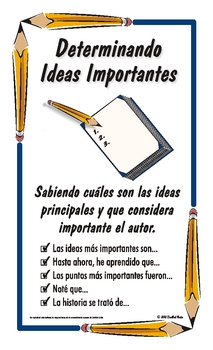 "Spanish Reading Strategy Posters - Legal Size (8.5 x 14"")"
