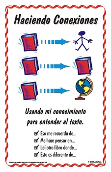"""Spanish Reading Strategy Posters - Tabloid Size ( 11 x 17 """")"""