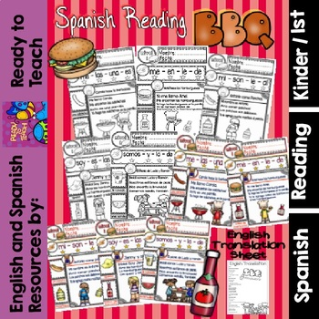 Spanish Reading - Summer BBQ - Guided  Reading Passages - Level 1