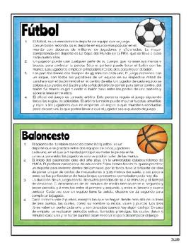 Spanish Reading Test Prep Informational Texts / Textos Informativos / STAAR