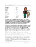 La ropa tradicional Lectura y cultura (sombrero, poncho, huipil) Spanish Reading