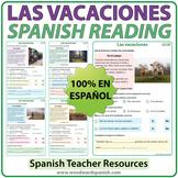 Spanish Reading about Vacations - Las Vacaciones