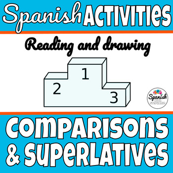 Spanish Reading and Drawing Activity: Comparisons and Superlatives