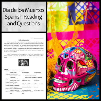 Spanish Reading and Questions on Day of the Dead/Día de los Muertos