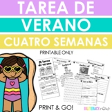 Spanish Reading and Writing Summer Packet - Four Weeks - T