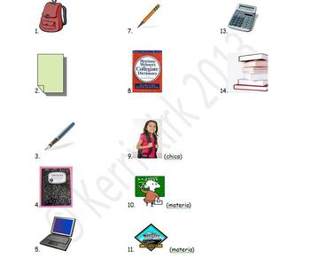 Spanish Realidades 1 2-A Vocabulary Entry Activity with Photos
