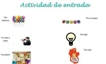 Spanish Realidades 1 5-A 5-B Vocabulary Entry Activity with 14 Pictures