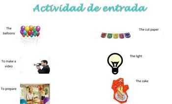 Spanish Realidades 1 5-A 5-B Vocabulary Entry Activity wit