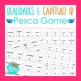 Spanish Realidades 1 Capítulo 1B Vocabulary ¡Pesca! (Go Fish) Game