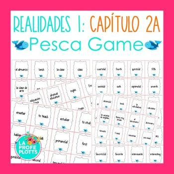 Spanish Realidades 1 Capítulo 2A Vocabulary ¡Pesca! (Go Fish) Game