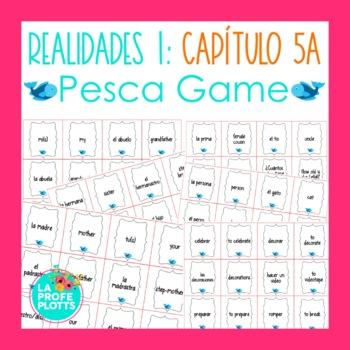 Spanish Realidades 1 Capítulo 5A Vocabulary ¡Pesca! (Go Fish) Game