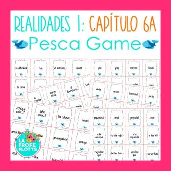Spanish Realidades 1 Capítulo 6A Vocabulary ¡Pesca! (Go Fish) Game