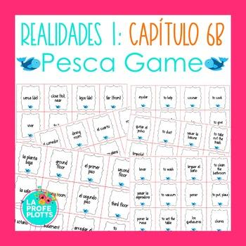 Spanish Realidades 1 Capítulo 6B Vocabulary ¡Pesca! (Go Fish) Game