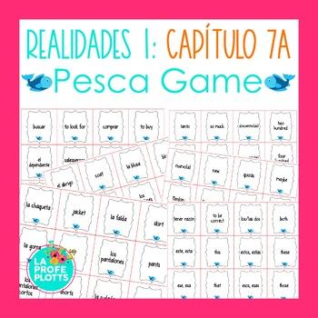 Spanish Realidades 1 Capítulo 7A Vocabulary ¡Pesca! (Go Fish) Game