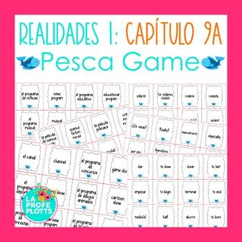 Spanish Realidades 1 Capítulo 9A Vocabulary ¡Pesca! (Go Fish) Game