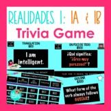 Spanish Realidades 1: Capítulos 1A & 1B Jeopardy-style Tri