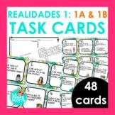 48 Spanish Realidades 1: Capítulos 1A & 1B Task Cards
