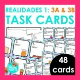 48 Spanish Realidades 1: Capítulos 3A & 3B Task Cards