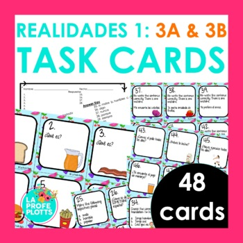 Realidades 1 3a Test Worksheets Teaching Resources TpT