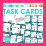 Realidades Auténtico 1 Capítulos 4A & 4B Task Cards | Spanish Review Activity
