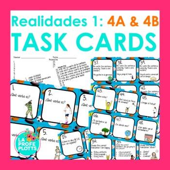 Spanish Realidades 1: Capítulos 4A & 4B Task Cards