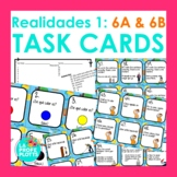 Realidades Auténtico 1 Capítulos 6A and 6B Task Cards | Spanish Review Activity