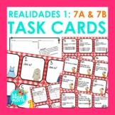 48 Spanish Realidades 1: Capítulos 7A & 7B Task Cards