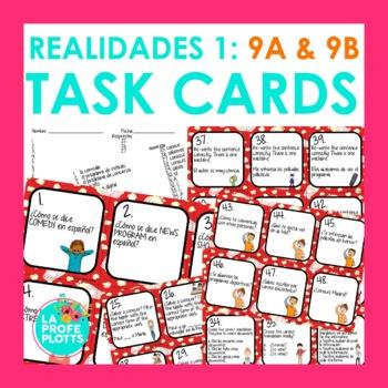 Spanish Realidades 1: Capítulos 9A & 9B Task Cards