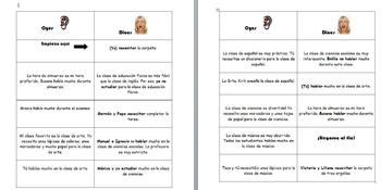 Spanish Realidades 1- Oyes/Dice -ar verb Conjugation Game