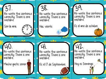 Spanish Realidades 1: Para Empezar Task Cards