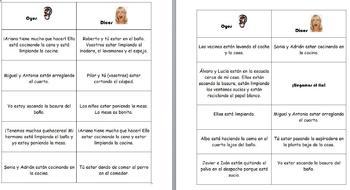 Spanish Realidades 1&2 Oyes/Dices Verb Conjugation Games