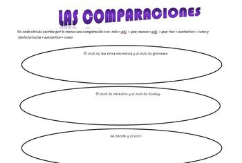 Spanish Realidades 2 1-B Comparisons Station Activity