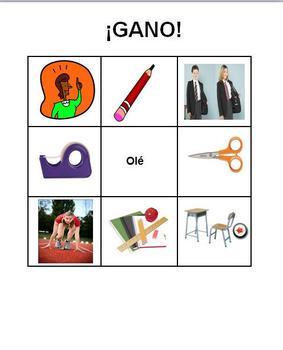 Spanish Realidades 2 1A ¡Gano!/Bingo Cards for Vocabulary Review