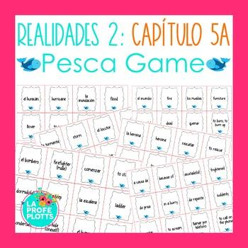 Spanish Realidades 2 Capítulo 5A Vocabulary ¡Pesca! (Go Fish) Game