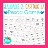 Realidades 2 Capítulo 6A Vocabulary ¡Pesca! (Go Fish) Game   Spanish Review Game
