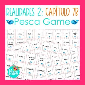 Spanish Realidades 2 Capítulo 7B Vocabulary ¡Pesca! (Go Fish) Game