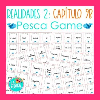 Spanish Realidades 2 Capítulo 9B Vocabulary ¡Pesca! (Go Fish) Game