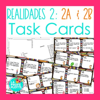 Realidades 2 Worksheets Teaching Resources Teachers Pay