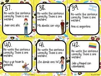 Spanish Realidades 2: Para Empezar Task Cards